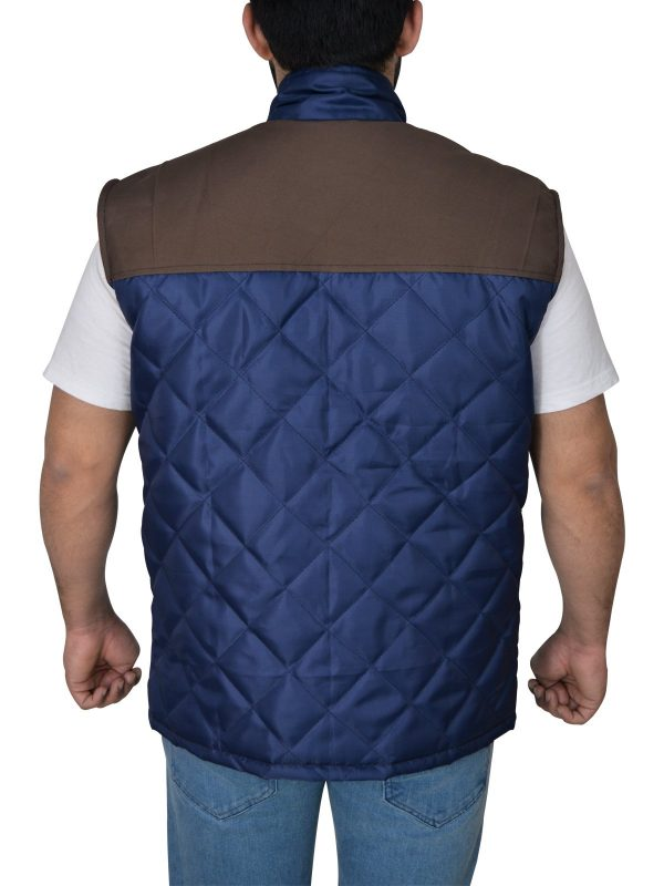 The 5th Wave Alex Roe Diamond Quilted Vest back