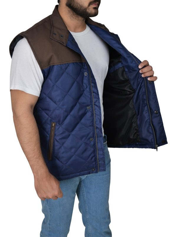 The 5th Wave Alex Roe Diamond Quilted Vest side