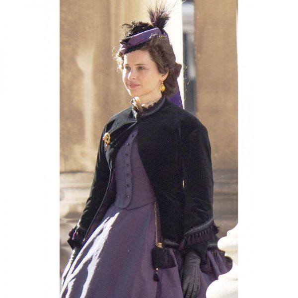 The Aeronauts Amelia Wren Black Velvet Coat