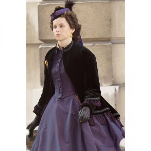 The Aeronauts Amelia Wren Black Velvet Coat f