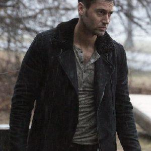 The Blacklist Ryan Eggold Black Suede Leather Jacket