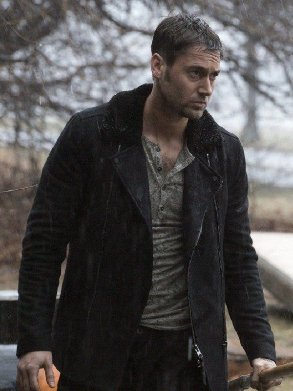 The Blacklist Ryan Eggold Black Suede Leather Jacket