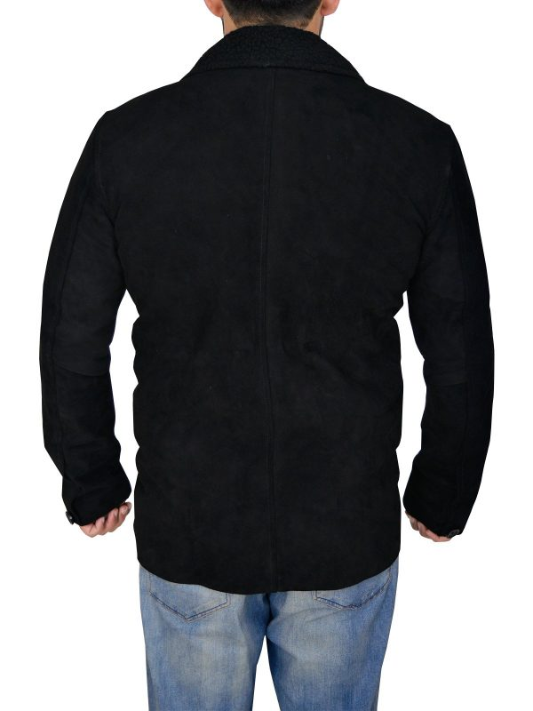 The Blacklist Ryan Eggold Black Suede Leather Jacket back