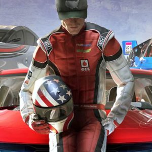 The Crew 2 Red & White Game Leather Jacket