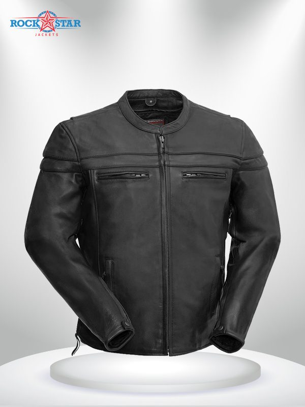 The Maverick Rockstar Black Motorcycle Leather Jacket