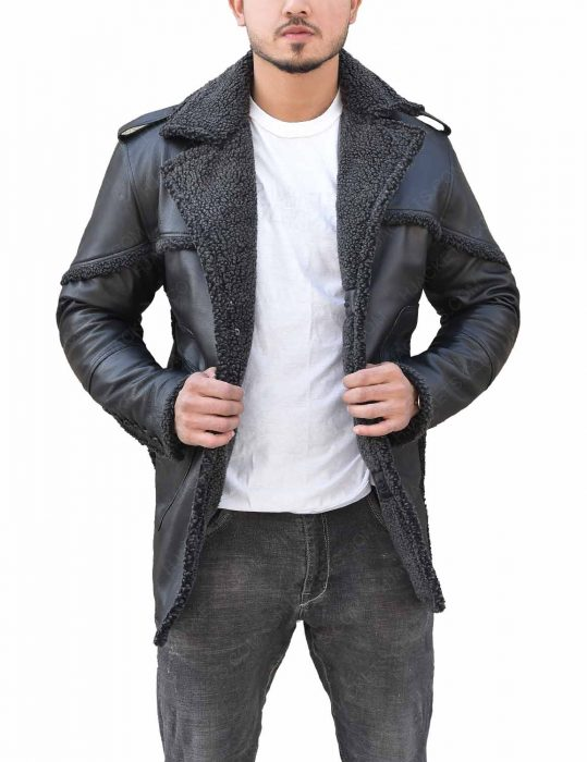 The Punisher Season 2 Billy Russo Shearling Grey Leather Coat
