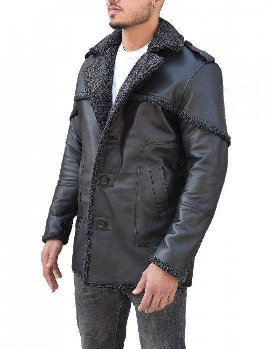 The Punisher Season 2 Billy Russo Shearling Grey Leather Coat1