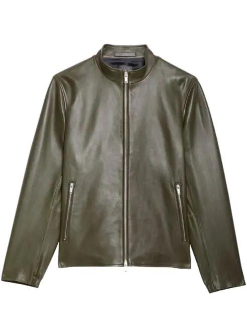 Theory Kellerherm Black Plain Leather Jacket