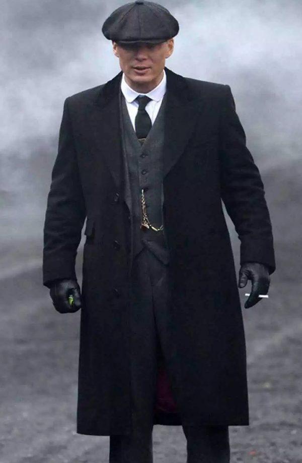 Thomas Shelby Peaky Blinders Black Wool Coat
