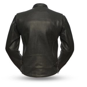 Turbine Rockstar Perforated Men's Leather Jacket back
