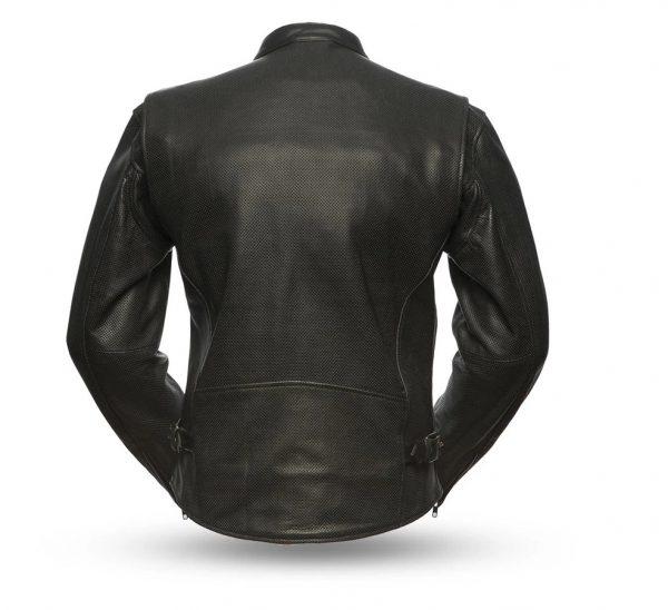 Turbine Rockstar Perforated Men's Leather Jacket back