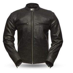 Turbine Rockstar Perforated Men's Leather Jacket front
