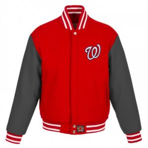 Washington Nationals II Tone Bomber Varsity Jacket