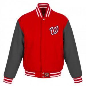 Washington Nationals II Tone Bomber Varsity Jacket