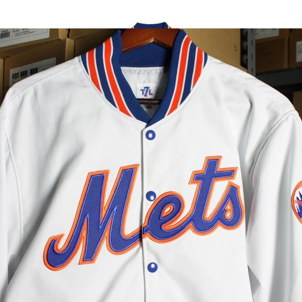 White Bomber New York Mets 'Roosevelt' Jacket