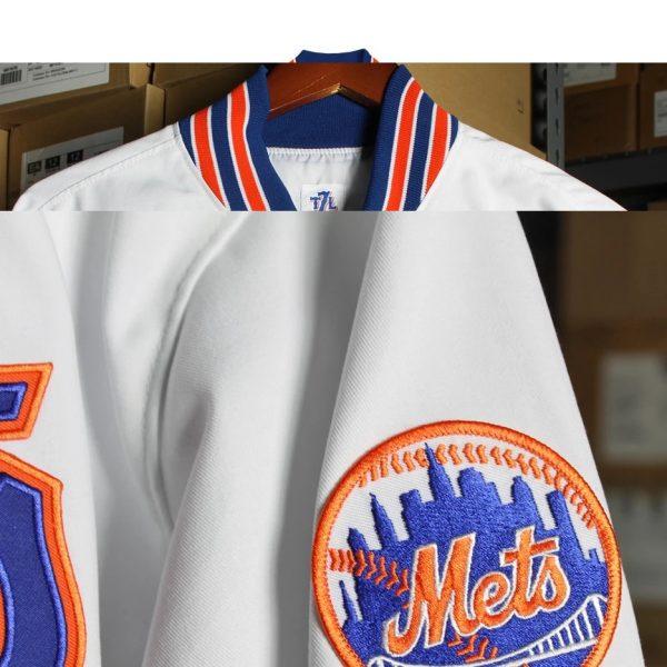 White Bomber New York Mets 'Roosevelt' Jacket side