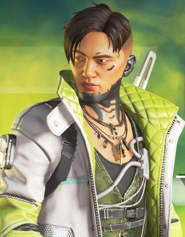 White Green Apex Legends Crypto Season 3 Jacket