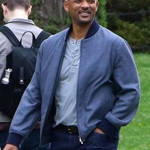 Will Smith Gemini Man Henry Brogan Blue Bomber Jacket