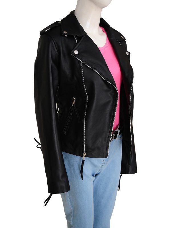 Wrestler Ronda Jean Rousey Biker Leather Jacket