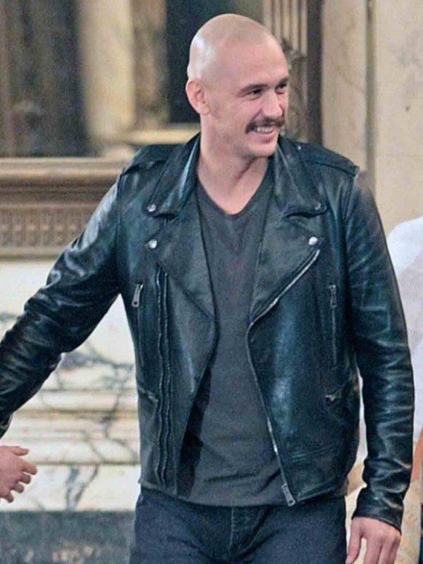 Zeroville James Franco Black Leather Jacket front