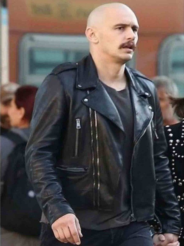 Zeroville James Franco Black Leather Jacket side