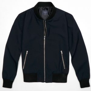 ryan reynolds blue bomber jacket