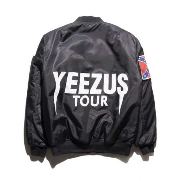 Black Kanye West Yeezy Confederate Flag Jacket