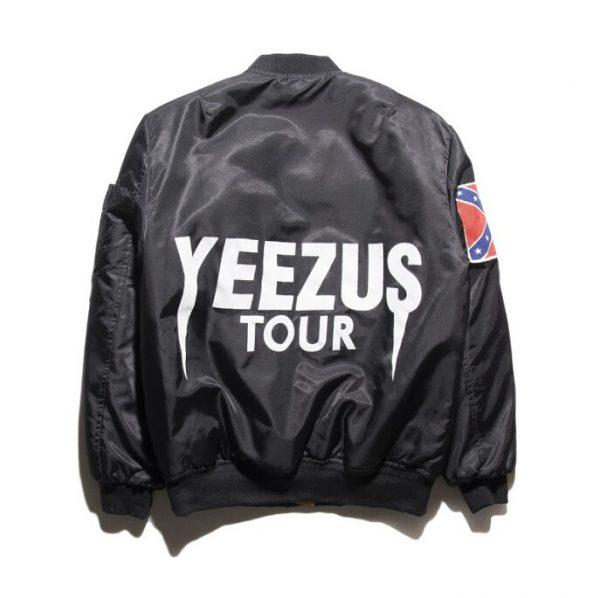 Black Kanye West Yeezy Confederate Flag Jacket