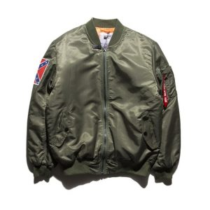 Kanye West Yeezy Confederate Flag Olive Green Jacket