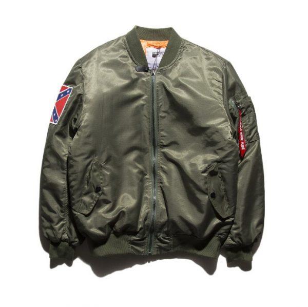 Kanye West Yeezy Confederate Flag Olive Green Jacket