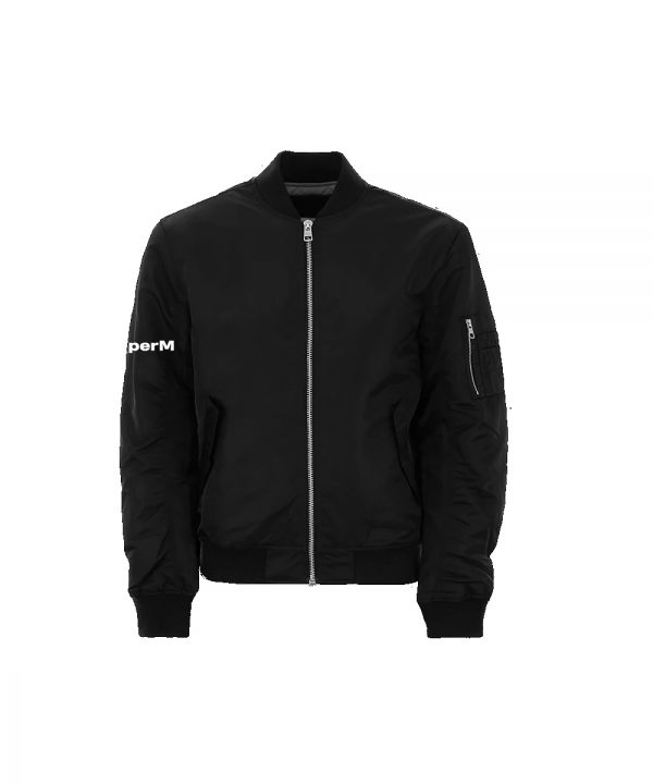 SuperM We Are The Future Live Black Bomber Jacket