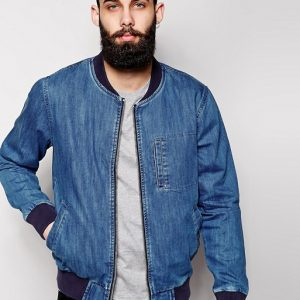 Waven Denim Bomber Blue Jacket