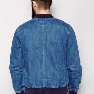 Waven Denim Bomber Blue Style Jacket