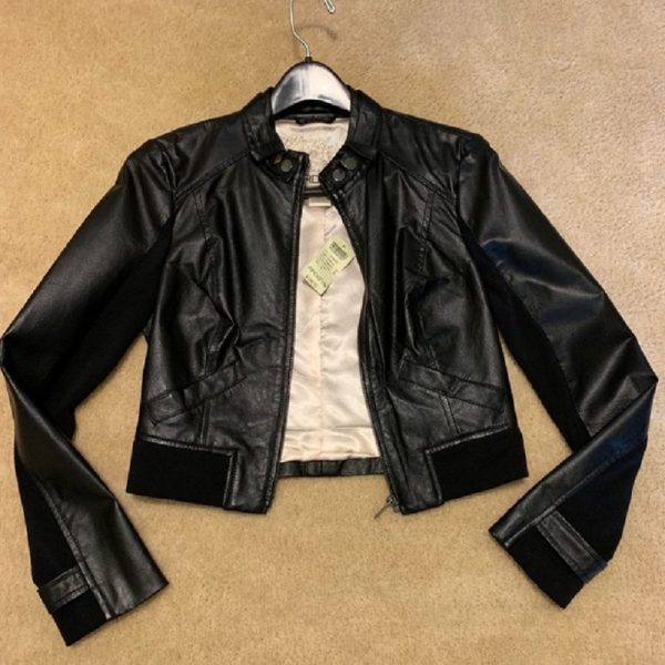 Arden B Black Leather Jacket
