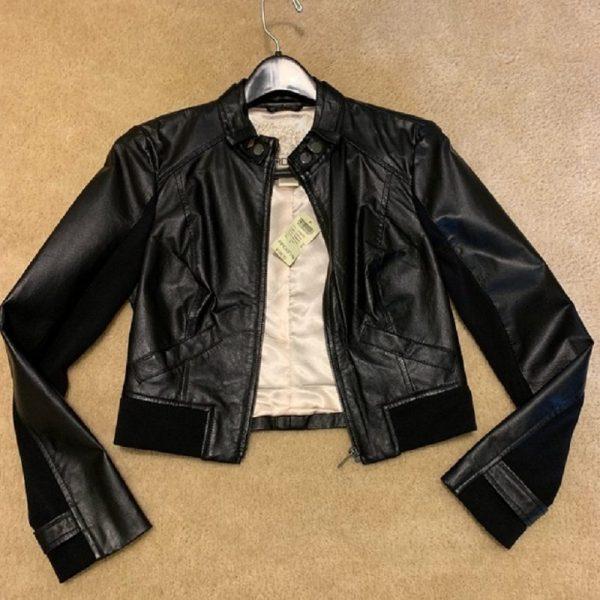 Arden B Black Leather Jacket