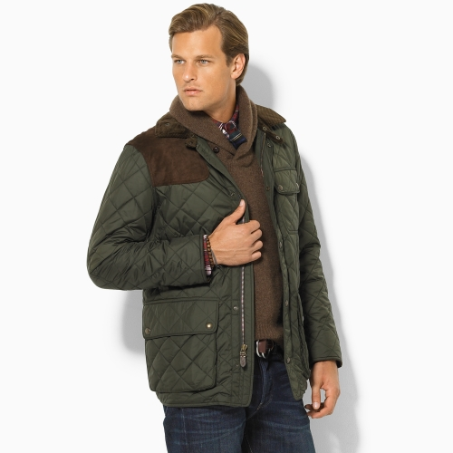 Clifford Blossom Barclay Hope Green Quilted Jacket