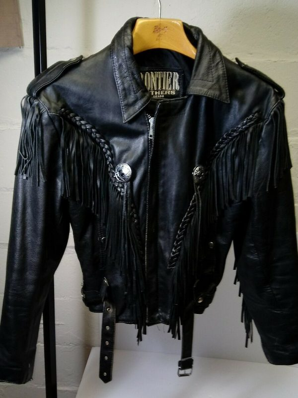 Frontier Colorado Motorcycle Fringe Leather Jacket
