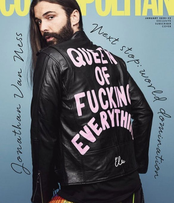 Jonathan Van Ness Queen Of Fucking Everything Leather Jacket