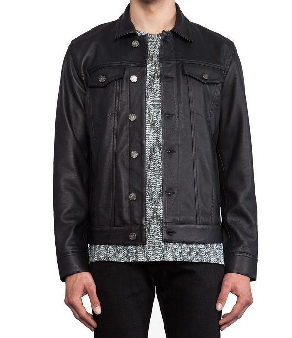 Marcs Jacobs Orcha Black Leather Jacket
