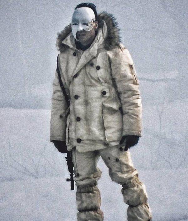 Masked Gunman James Bond 2020 White Coat Jacket