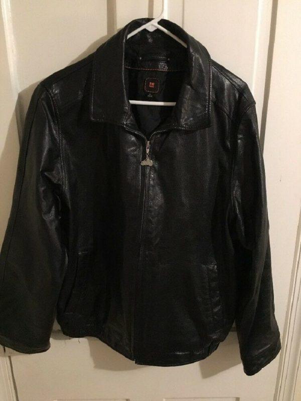 Men's LW Black Motorcycle Leather Jacket