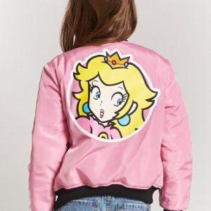 Princess Pink Team Peach Bomber jacket