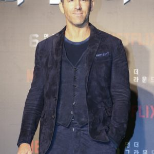 Ryan Reynolds 6 Underground EXO Obsession Blue Suede Leather Jacket