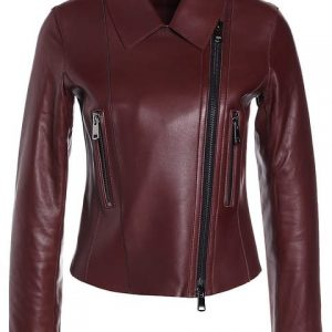 Women's Red Remi Leather Jacket