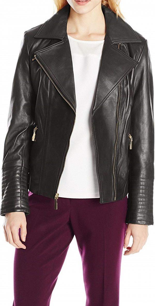 Women's Vince Camuto Black Leather Jacket