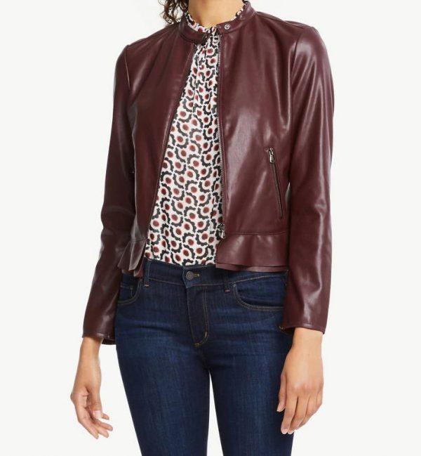 Ann Taylor Faux Leather Jacket