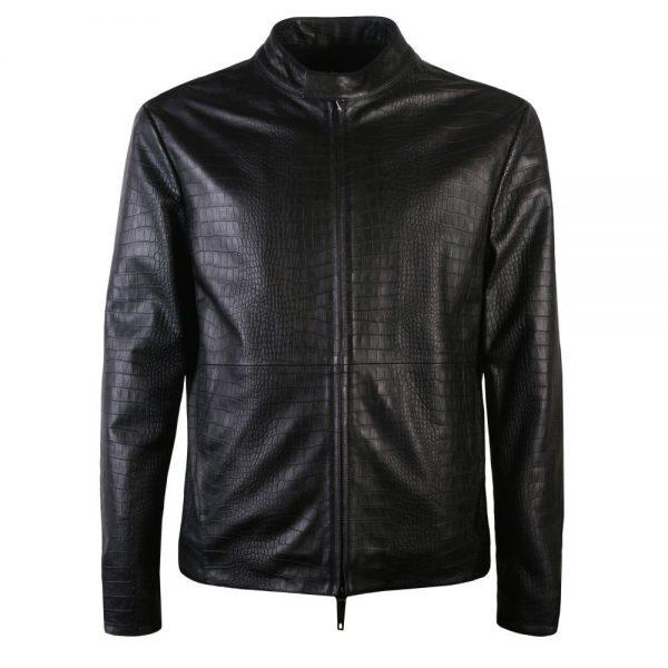 Armani Collezioni Black Leather Jackets