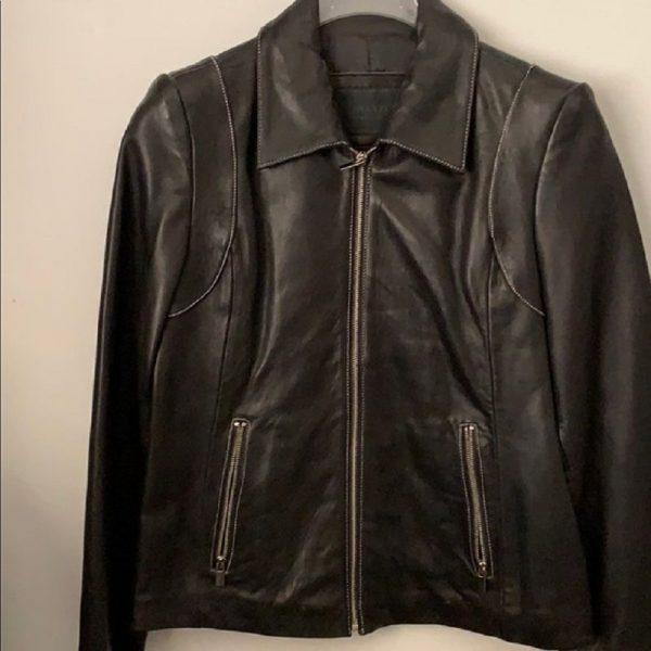 Avanti New York Black Leather Jacket