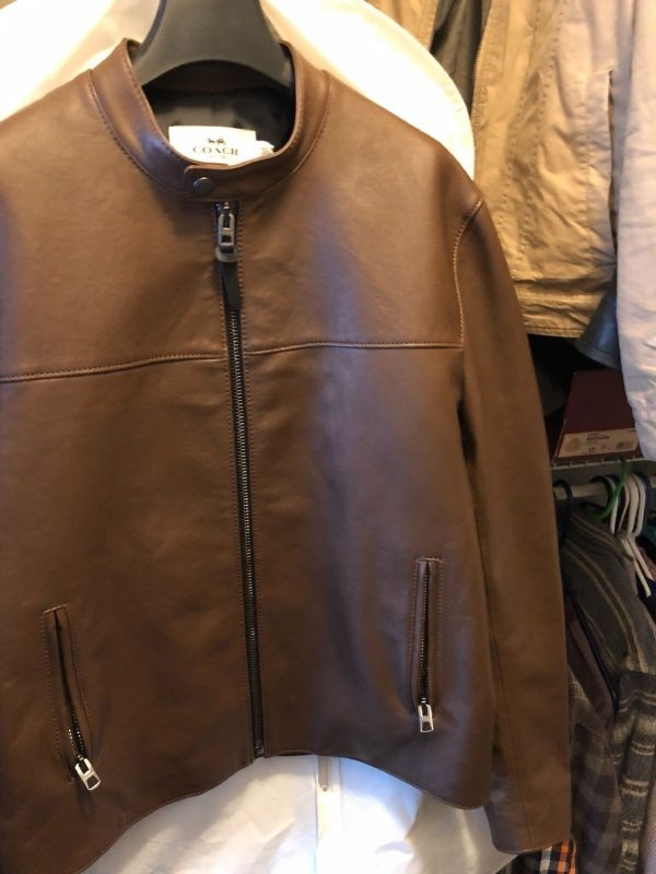 Coachs Mens Brown Leather Jacket