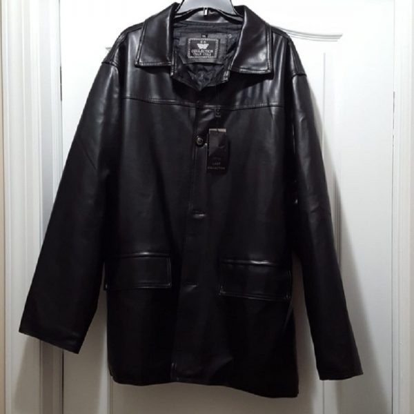 EA Collection Soft Faux Leather Jacket